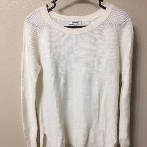 Madewell white sweater
